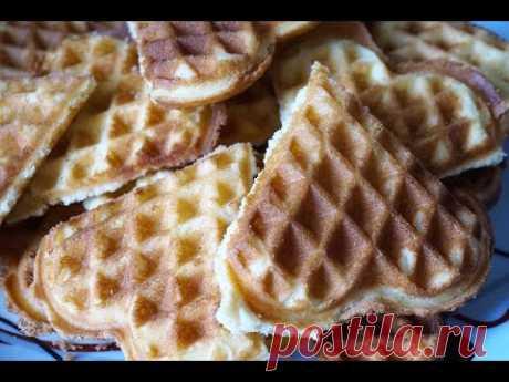 Вафли 1/4 хрустящие в электровафельнице/Waffles