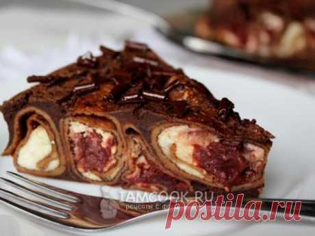 Шоколадный блинный торт — рецепт с фото