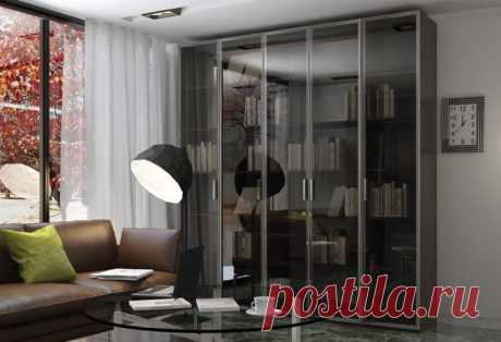 Шкафы распашные со стеклянными дверями на заказ: фасады Schuco