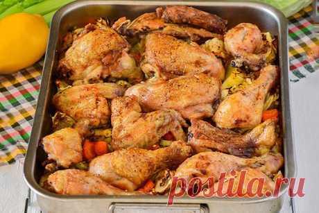 Курица с рисом и овощами в духовке — ХОЗЯЮШКА