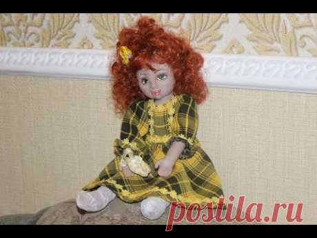 Мастер класс. Шьём текстильно-скульптурную куклу. Урок 1. Голова.