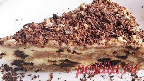 торт с черносливом и сметаной.
