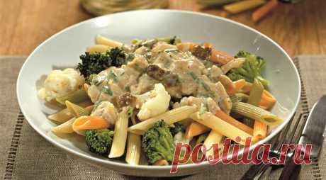 Паста с цветной капустой, брокколи и грибным соусом, пошаговый рецепт с фото