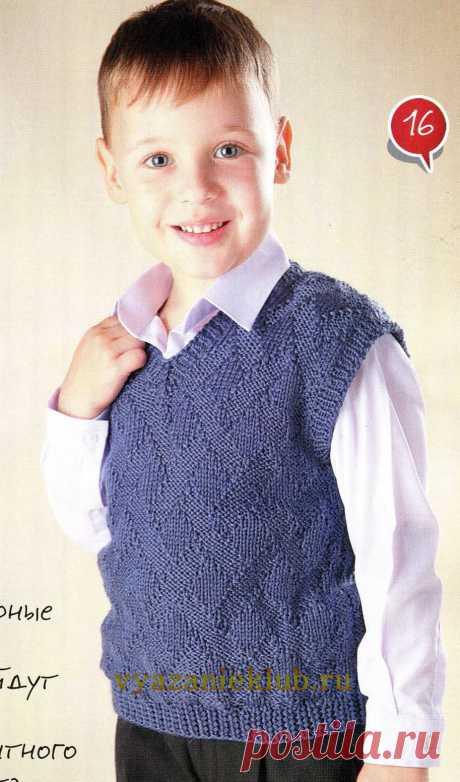 Жилет для мальчика 5 лет - Для мальчиков - Каталог файлов - Вязание для детей