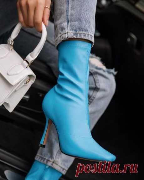 Модные женские ботильоны 2021 на элегантном каблучке