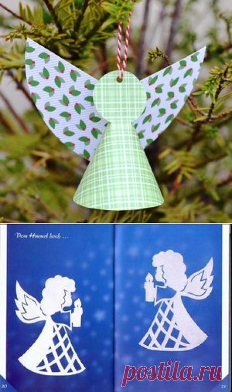Ангелы из бумаги по шаблону своими руками: рождественский сувенир по трафарету и выкройке