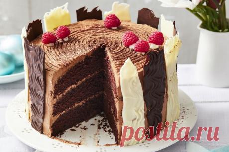 Шоколадный рождественский торт Yule
