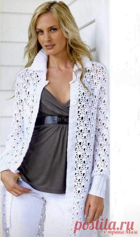 Summer openwork coat - Knitting - the Country of Mothers