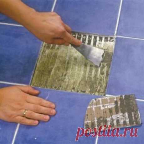 Как заменить одну плитку без демонтажа всего покрытия