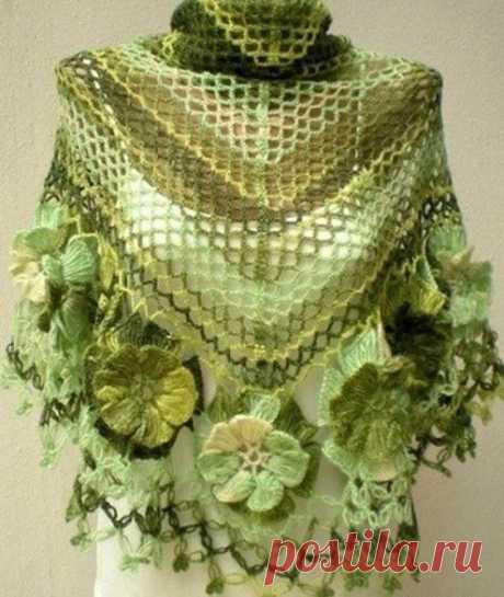 Вязание на вилке цветов для обвязки шали / Историческая справка