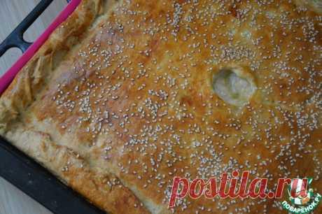 Пирог из слоеного теста с курицей Кулинарный рецепт