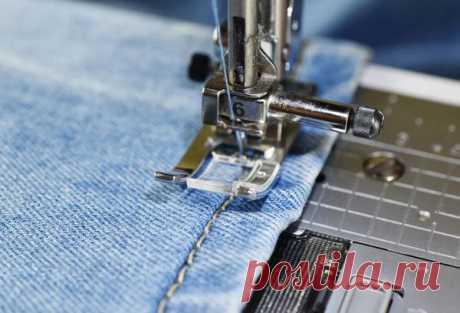 как обрезать джинсы внизу по-модному в домашних условиях с сохранением фабричного края вручную, без машинки