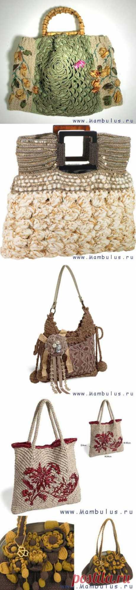 WORLD of NEEDLEWORK: KNITTED BAGS (bags the hands)-2