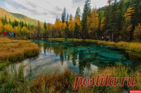 Фото: Таинственное озеро в сердце Алтая. любитель Любовь Ключева. Пейзаж - Фотосайт Расфокус.ру