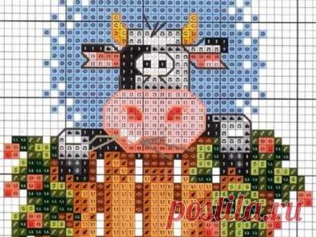Вышивка крестом Быка: 35 схем вышивки символа 2021 года Предлагаем 35 схем вышивки крестом Быка и Коровы - символа 2021 года. Этой вышивкой вы сможете украсить Новогодние подарки и игрушки.