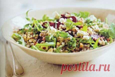 Салат из гречки и печеной свеклы