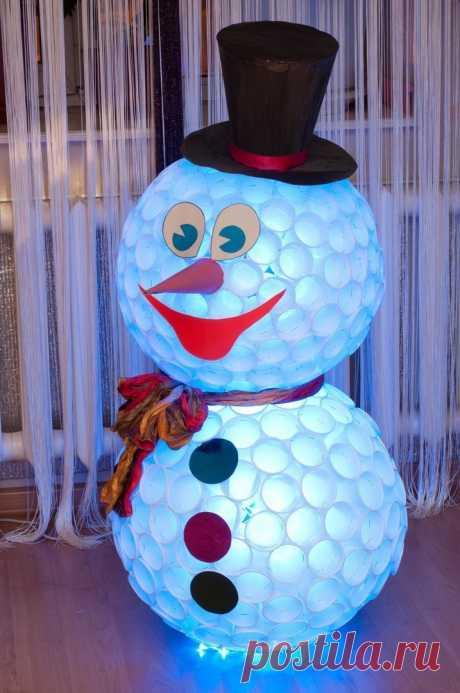 Мастерим оригинального снеговичка — Сделай сам, идеи для творчества - DIY Ideas
