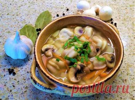 Суп с пельменями и грибами на скорую руку | Поделки, рукоделки, рецепты | Яндекс Дзен