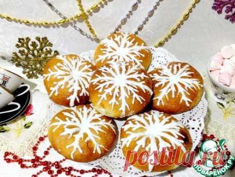 "Булочки ""Снежинки"" – кулинарный рецепт"