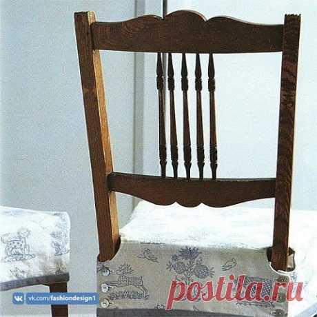 Чехол для сидения стула (выкройка) Модная одежда и дизайн интерьера своими руками