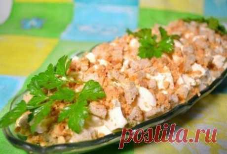 Как приготовить салат с грибами и сыром искушение - рецепт, ингредиенты и фотографии