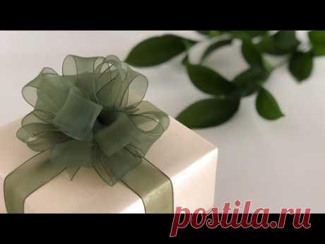 Бант из ленты на подарке (Diy) / Упаковка подарков / ВТОРАЯ УЛИЦА - Выкройки, мода и современное рукоделие и DIY