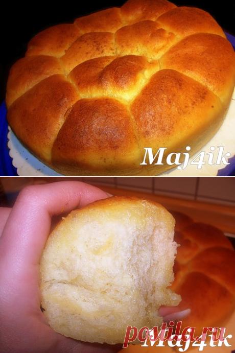 Сладкие сдобные булочки с начинкой Нежнее нежного (дрожжевое тесто на кефире)