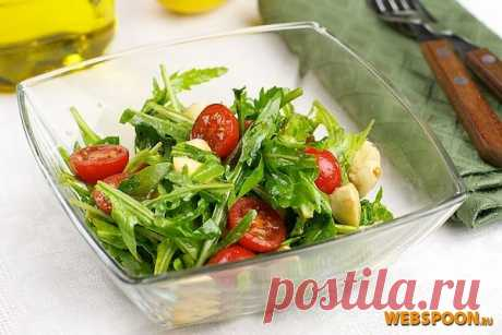 Салат с рукколой | Рецепт салата с рукколой, черри и моцареллой с фото на Webspoon.ru