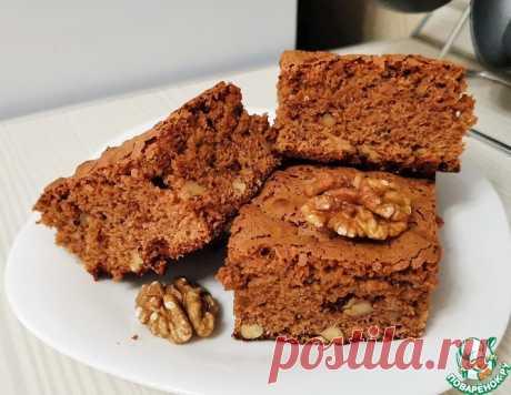 Кофейный брауни с грецкими орехами – кулинарный рецепт