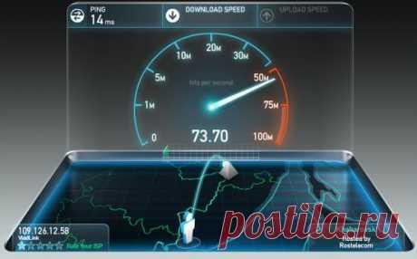 Как скорость интернета проверить speedtest онлайн на русском