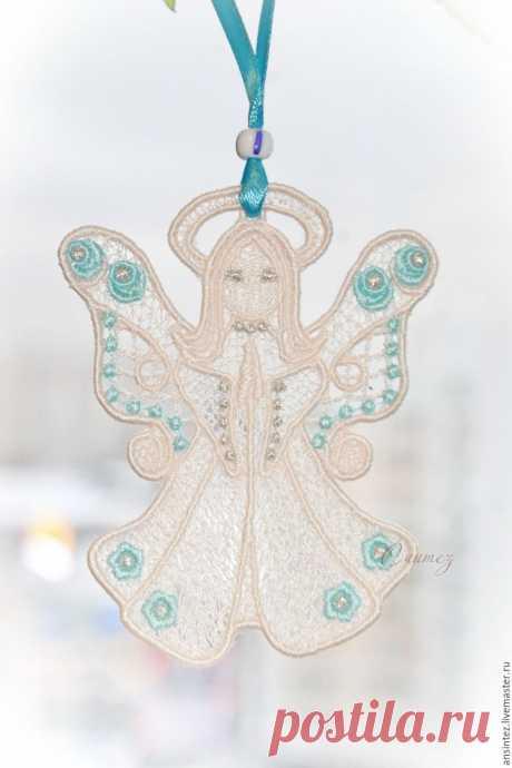 Купить Цветочный Ангел вышитый кружевной декор игрушка для мобиля в интернет магазине на Ярмарке Мастеров
