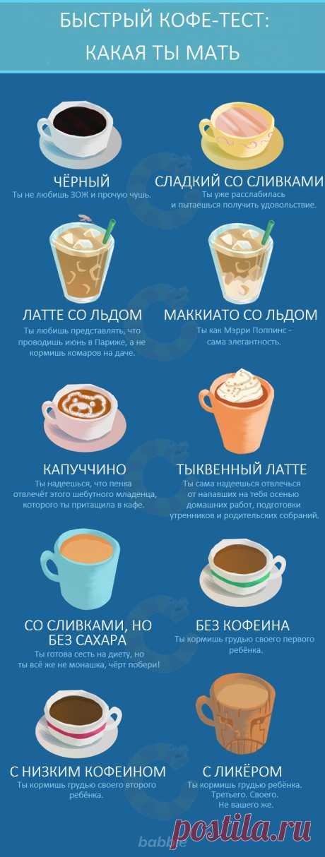 Моментальный кофе-тест: какая из тебя мать?   Краше Всех