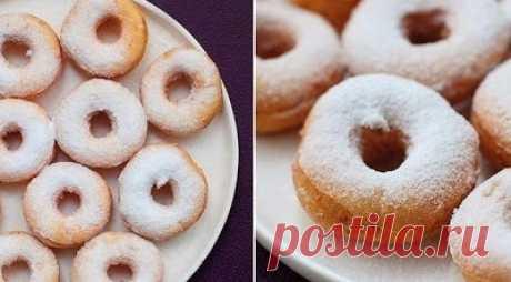 Воздушные пончики на твороге!