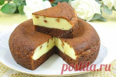 Шоколадный пирог-ватрушка «Ярмарка», рецепт с фото. Готовим шоколадно-творожный пирог в мультиварке.