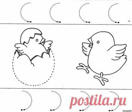 Po tochkam (3) - Соединяем по точкам - Дошкольное развитие ребенка - БумАгушки - детские раскраски и многое другое