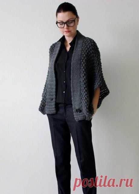 Jacket poncho spokes