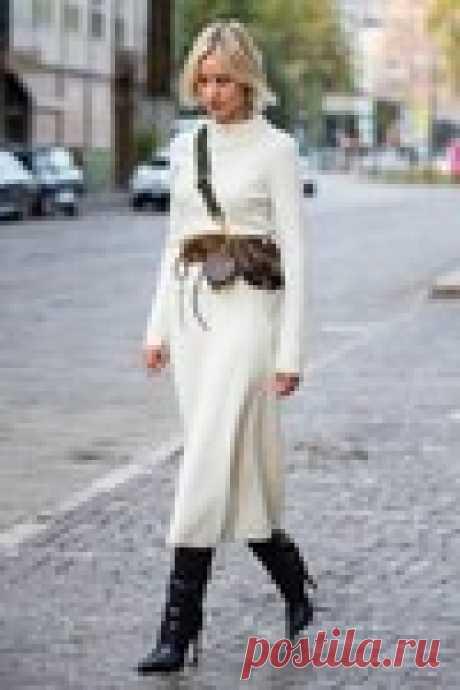 Осенью трикотажная юбка приходит на смену плиссированной   Vogue Russia