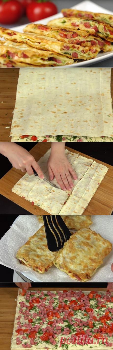 Как приготовить вкусная закуска из лаваша  - рецепт, ингредиенты и фотографии