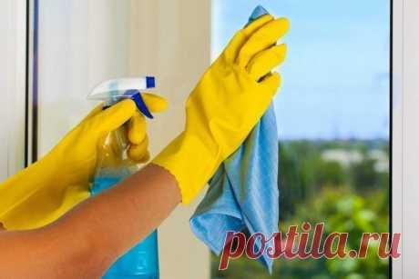 Как сделать средства для мытья стекол из продуктов под рукой.
