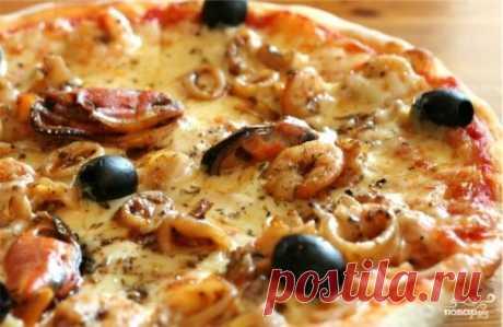 Пицца в микроволновке с грилем - рецепт с фото на Повар.ру
