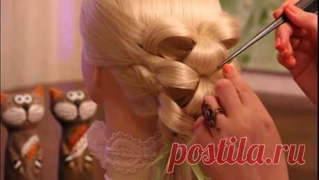 Причёска на резинках - Лилии