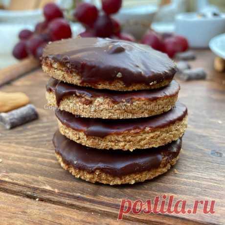 Хрустящее печенье с шоколадом (без муки, без глютена, веганское)