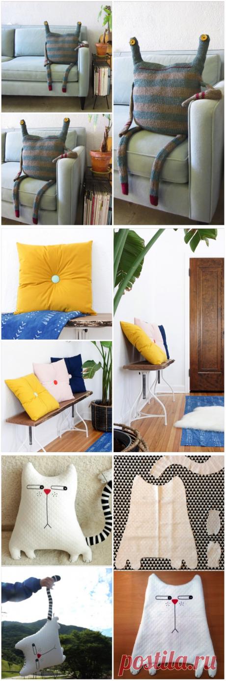 Оригинальные подушки для домашнего интерьера — Наши дома