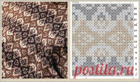 30 схем жаккардовых паттернов для вязания спицами сплошного жаккардового полотна | МНЕ ИНТЕРЕСНО | Яндекс Дзен