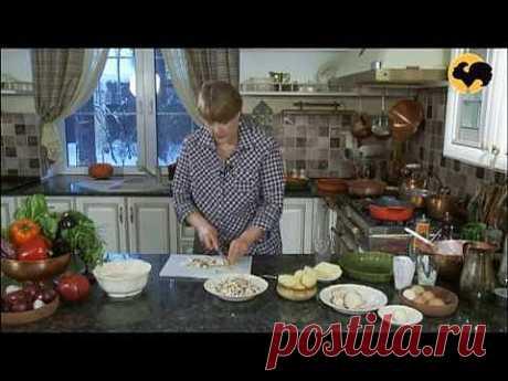 заливной пирог с картофелем и грбами