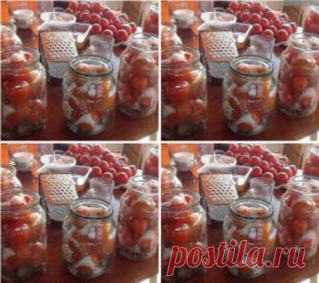 Самые проверенные рецепты - Рецепт засолки небольших помидор в литровые банки