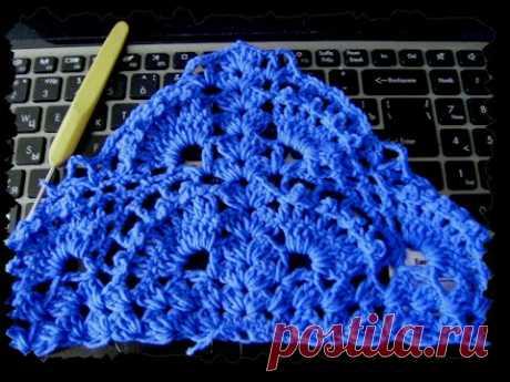 Красивая шаль крючком. #crochet women's shawl wrap scarf