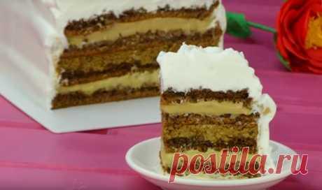 Кофейно-ореховый торт: сладкое лакомство с капучино