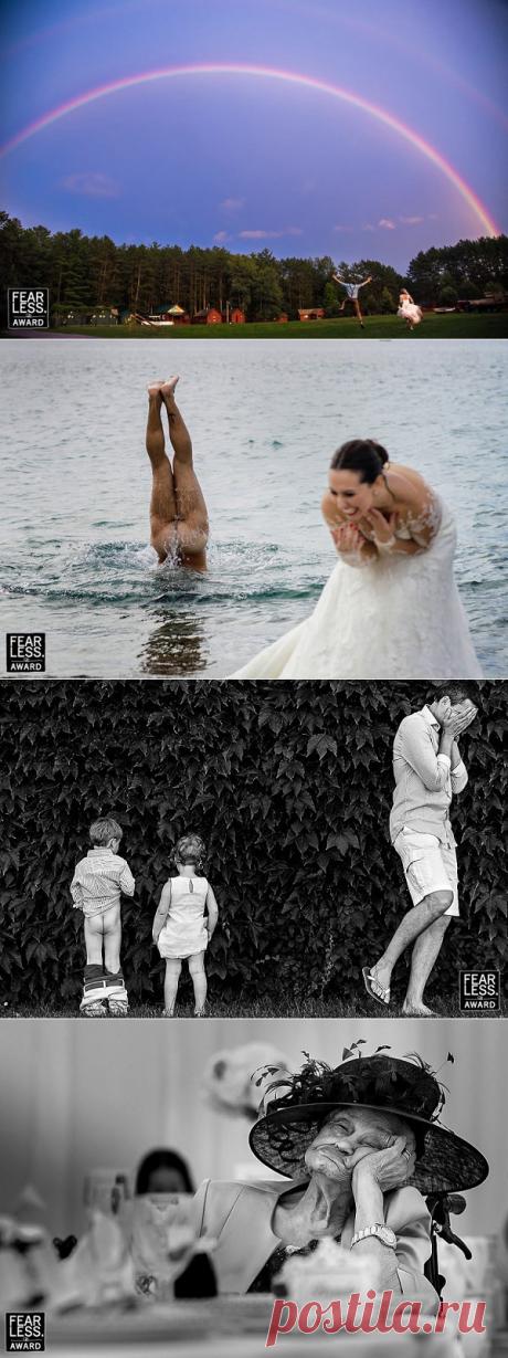Топ-65 бесстрашных свадебных фото, на которые решился бы не каждый.