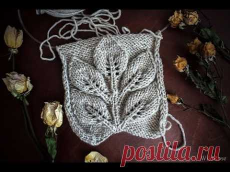 """Pattern \""""Leaves on a branch\"""" ♥ Part 1 ♥ we Knit spokes ♥ Wild Rose ♥"""